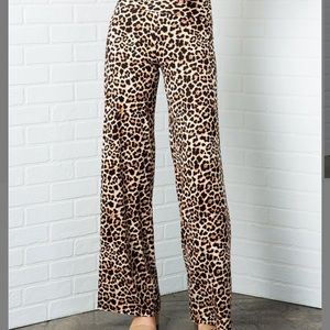 Pants - 🆕 Brown Leopard Palazzo Pants
